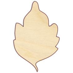 "Leaf Unfinished wood cut from 1/4"" Baltic birch plywood, unless otherwise indicated. Sizes shown with (1/8"") next to them will be cut from 1/8"" Baltic birch plywood. Pieces are laser cut, which result"