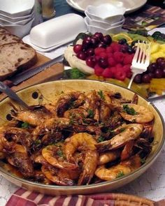"""Recipe for """"Deanie's BBQ Shrimp"""" from the famous Deanie's Seafood in New Orleans.....Most amazing shrimp I've EVER had..."""