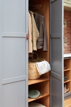 contemporary drawer stack - hallway storage for coats and shoes