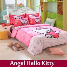 Home textile,children cartoon print king size bedding set cotton 4pcs bed linen bed sheets bedspread pillowcases duvet cover set $88.99