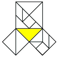 tangram pythagoras Tangrams can demonstrate the Pythagorean theorem. The yellow figure in the diagram above is a right triangle; the seven pieces that make up the square on the hypotenuse can be rearranged to form squares on the other two sides.