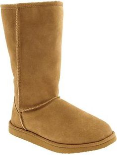 Fake uggs..but like better.....calf boot, ankle boot, comes in all colors...great bargain.....Women's Tall Suede Boots | Old Navy