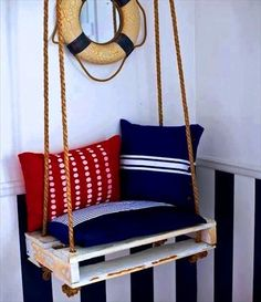 30 Nautical Home Decor that will Certainly Spice Up your Living Space Nautical Theme Decor, Seaside Decor, Nautical Home, Decoration Surf, Surf Decor, Deco Marine, Wooden Room, Floor Decor, Awesome Bedrooms