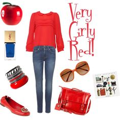 Very Girly Red, power outfit.