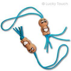 Geluksbaby's Lich blauwe gelukspoppetjes voor aan je geboortje kaartje