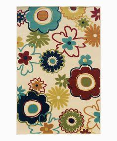 Tan & Red Floral Indoor/Outdoor Rug by Oriental Weavers #zulily #zulilyfinds