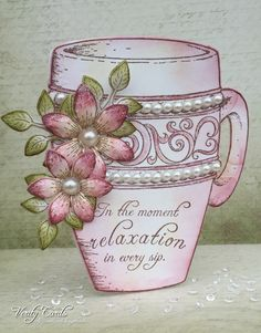 Coffee Mug card by Liz Walker