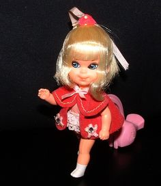 RARE Retro Shirley Skediddle Kiddle Doll Little Kiddles with Walker  --  I still have mine!