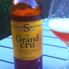 Grand Cru Ale by Southampton - ale brewed with spices such as dried orange peel, ground coriander or anise. Extremely flavorful, obviously belgian style and strong (10%) - don't drink it too cold.