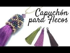 How to make a Fringe Cap Terminal with Miyuki - Kolyeler Seed Bead Tutorials, Jewelry Making Tutorials, Beading Tutorials, Beaded Beads, Beads And Wire, Beaded Earrings, Jewelry Patterns, Bracelet Patterns, Beading Patterns