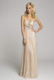 Strapless Chiffon Grecian Dress from Camille La Vie and Group USA