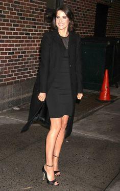 Cobie Smulders - Celebs Stop by 'Letterman'