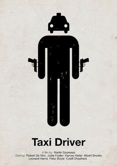 'Taxi Driver' pictogram movie poster by Viktor Hertz, via Flickr