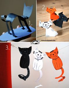 Three cats' stories in paper (krokotak)