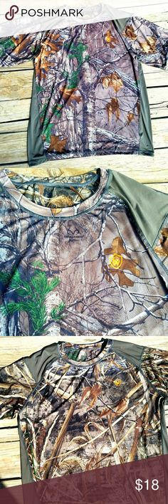 Realtree Max-5 Camouflage Reversible Shirt Never worn-Mens Realtree Max-5 Camouflage Reversible Shirt. Lightweight silky material. Reversible shirt with two different camo prints. Size XL Realtree Shirts Tees - Short Sleeve
