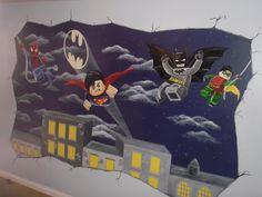 Lego Batman Mural www.custommurals.co.uk
