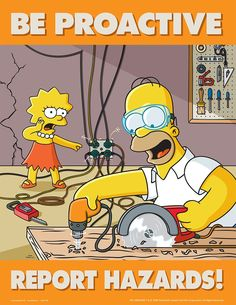 simpsons poster | Safety Communication Posters - Simpsons S1130