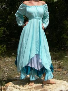Renaissance gypsy | Gypsy Dress Layered with Sleeves Pirate Wench Renaissance ...
