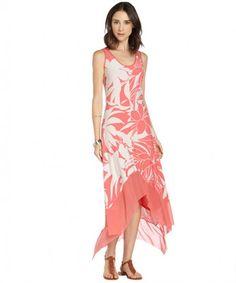 Marc New York sunset stretch floral print maxi dress on WearsPress