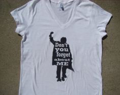 Breakfast Club 1985 tee shirt - Ladies Bella fitted tee - Don't  you forget about me - 80's tee shirt