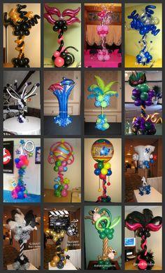 unique balloon centerpieces & columns