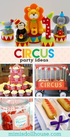Circus Party food Circus Party: Let& Clown Around with some Circus Party Ideas. Looking to throw a Circus Party? Be sure to check out our other Circus Party Ideas and Parties& Circus Party Foods, Kinder Party Snacks, Circus Party Decorations, Clown Party, Carnival Themed Party, Carnival Themes, Carnival Costumes, Circus Food, School Carnival Games