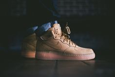 """Image of A Closer Look at the Nike Air Force 1 Mid """"Wheat"""""""