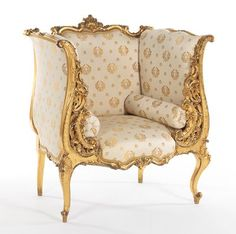 French Giltwood Chair, Matching the Settee