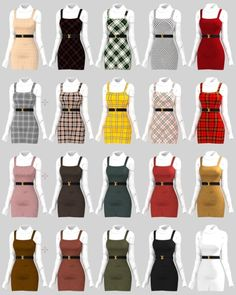 sims 4 cc // custom content clothing // // b. - sims 4 cc // custom content clothing // // belt buckle is in th - Teen Fashion Outfits, Mode Outfits, Girl Outfits, Sims 4 Outfits, Clueless Outfits, Clueless Fashion, Teen Girl Fashion, Toddler Outfits, Sims 4 Mods Clothes