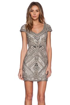 Parker Elijah Sequin Dress in Silver