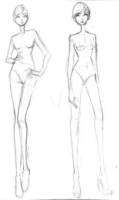 Free Fashion Croquis 05 by Aiciel.deviantart.com on @deviantART