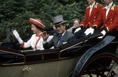 Queen Elizabeth II and Prince Philip arrived at Royal Ascot in an | A Look at Charming Prince Philip Through the Years | POPSUGAR Celebrity