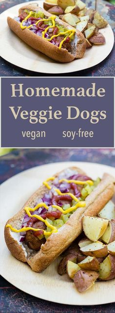 Vegan Hot Dog *for 6 1 tsp Coriander, ground 3 cloves Garlic Onion, medium cup Pinto beans, cooked 1 tbsp Tomato paste 2 tbsp Coconut aminos or soy sauce 1 tsp Mustard, ground cup Oatmeal rolled or quick oats Hot Dog Recipes, Whole Food Recipes, Cooking Recipes, Recipes Dinner, Dinner Ideas, Breakfast Recipes, Vegan Foods, Vegan Dishes, Vegetarian Recipes