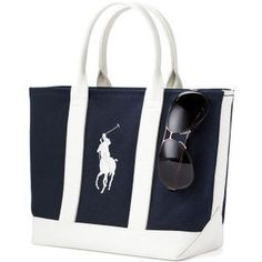 Yahoo! Auctions - Ralph Lauren Polo Canvas Big Pony Tote Nav ...