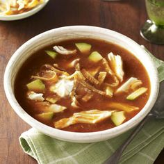 Chicken Tortilla Soup #Recipe. Check out facebook.com/hearstspecials for even more great recipes!
