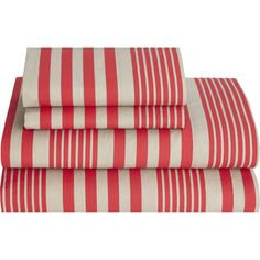 Refresh your master suite or guest room with this lovely cotton sheet set, showcasing a classic stripe print.Product: 1 Flat shee...