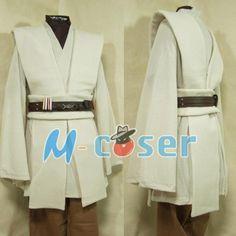 Star Wars Obi-Wan Jedi Robe Obi Wan Kenobi Tunic Cloak Halloween Carnival Cosplay Costume For Adult Men