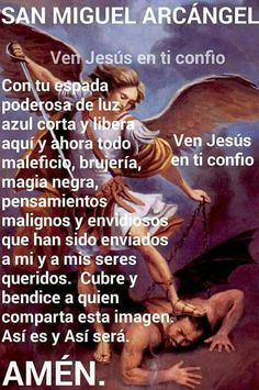 Miguel Arcángel Morning Prayers, Prayer For Family, Archangel Michael, Thank You God, Prayer Board, Angels In Heaven, San Miguel, Power Of Prayer, Virgin Mary