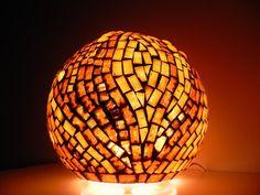 Chocolat - Mosaic Table Lamp, $125