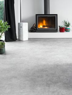Burnished Concrete Camaro Luxury Vinyl Tile Flooring Featured In - Concrete sheets for tile
