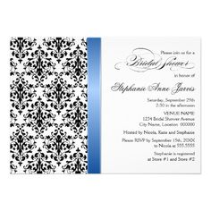 This DealsPrinted Royal Blue Ribbon Damask Bridal Shower Custom Announcementsyou will get best price offer lowest prices or diccount coupone