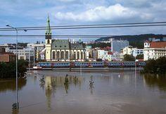 Panťák při povodních v Ústí.