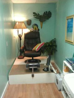 A few color changes and this small space is the perfect spa.