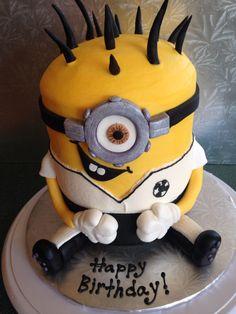 Minion soccer cake.