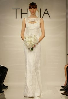 Gorgeous keyhole neckline on this Theia Wedding Dress from the Spring 2014 collection