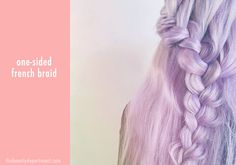 beauty dept purple hair braid