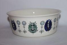 Scandinavian mid century folk art bowl Norway by MillCottageRetro
