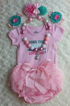 mo Girls Outfit Pink Onsie with Ruffle by CraftyGiftsByMumsy Photo Props, Photo Shoot, Baby Shower Gifts, Baby Gifts, Baby Girl Items, Bare Foot Sandals, Cute Little Girls, Monograms, Baby Photos