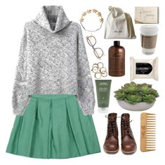 """""""#67 // natural + TOP FASHION SET"""" by grace-and-aesthete ❤ liked on Polyvore featuring Red Wing, The Body Shop, Lux-Art Silks, Aveda, H&M, philosophy, CÉLINE, Eddera, 67 and fashionbygrace"""