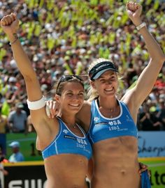 Kerri Walsh and Misty May-Treanor                                                          U.S. volleyball players Misty May-Treanor (l.) and Kerri Walsh (r.) make one picture-perfect team ...